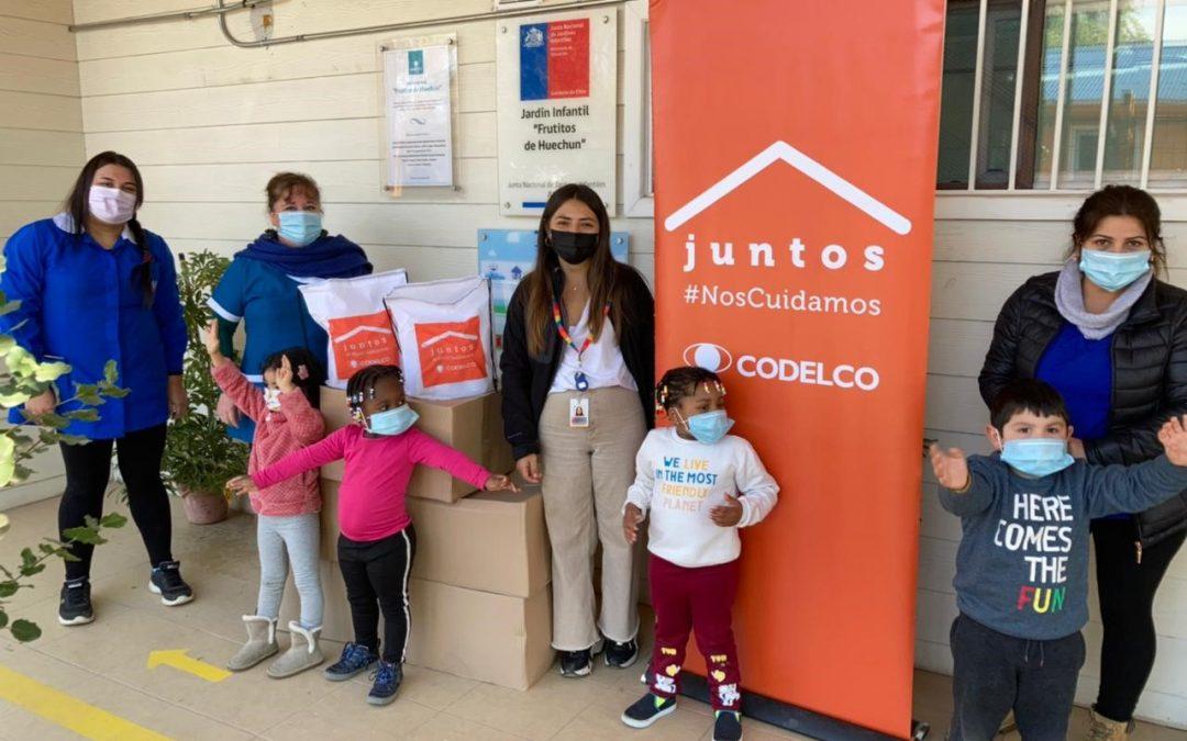 Codelco División Andina realizó nueva entrega de kits sanitarios en Chacabuco y Til Til